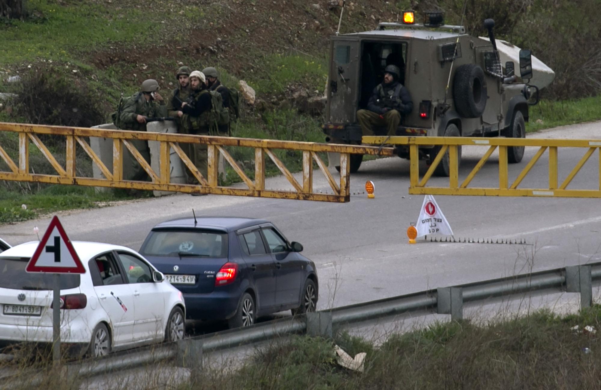 صور قوات الاحتلال تحاصر نابلس (6)