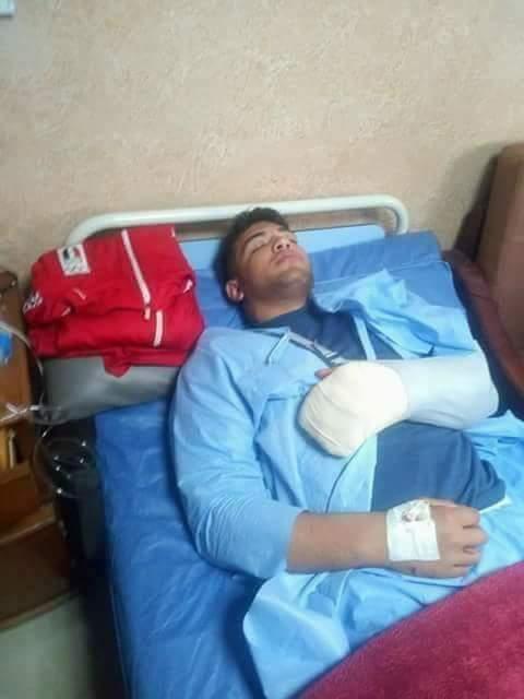 الاعتداء علي بطل  المصارعة وإصابته بالدقهلية (2)