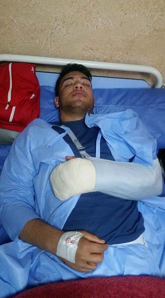 الاعتداء علي بطل  المصارعة وإصابته بالدقهلية (1)