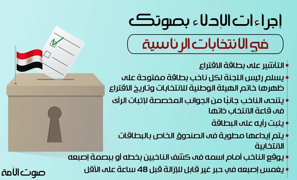 إجراءات الإدلاء بصوتك في الانتخابات الرئاسية