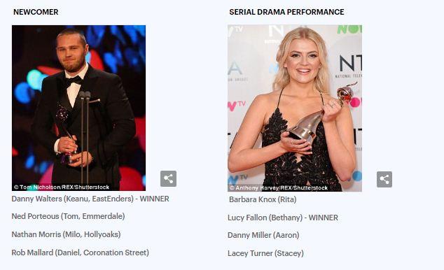 14 جائزة لنجوم الشاشة الصغيرة فى حفل National Television Awards (صور) (5)