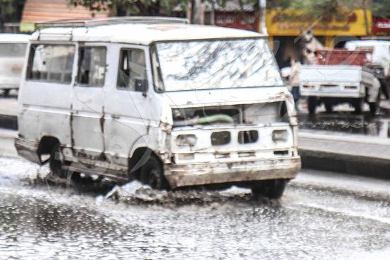 الأمطار تغرق شوراع الجيزة (9)