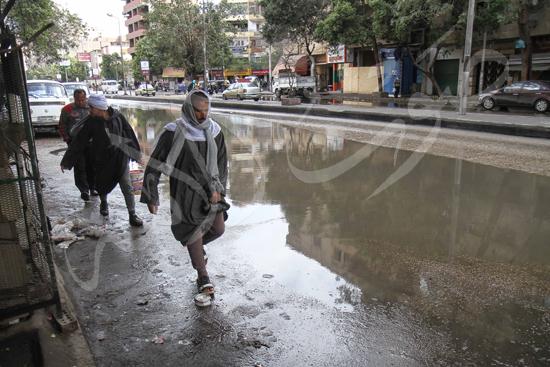 الأمطار تغرق شوراع الجيزة (3)
