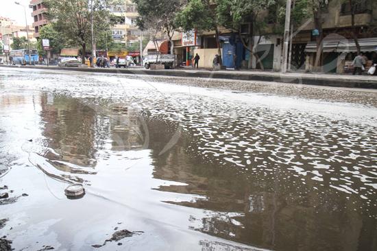 الأمطار تغرق شوراع الجيزة (1)