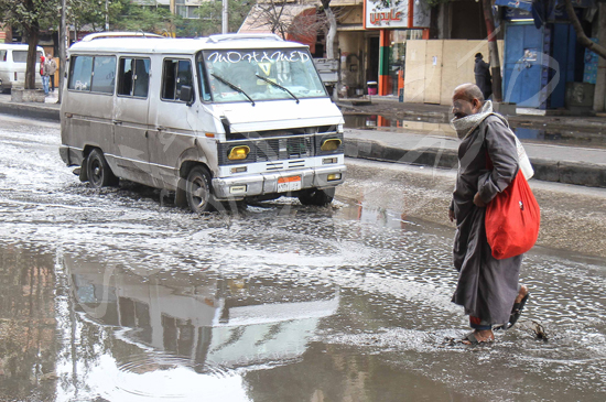 الأمطار تغرق شوراع الجيزة (4)