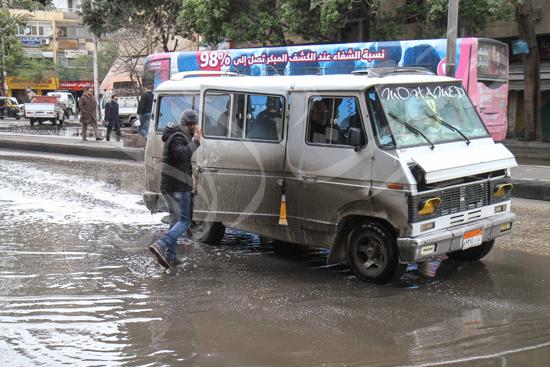 الأمطار تغرق شوراع الجيزة (5)