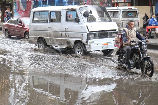 الأمطار تغرق شوراع الجيزة (6)