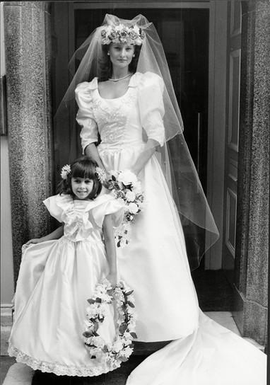 فساتين زفاف السبعينات