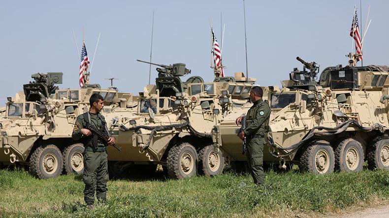 قوات سوريا الديمقراطية وأمريكية