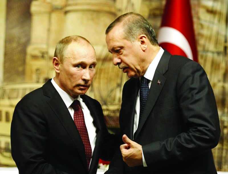 الرئيس الروسي فلاديمير بوتين والرئيس التركي رجب طيب أردوغان