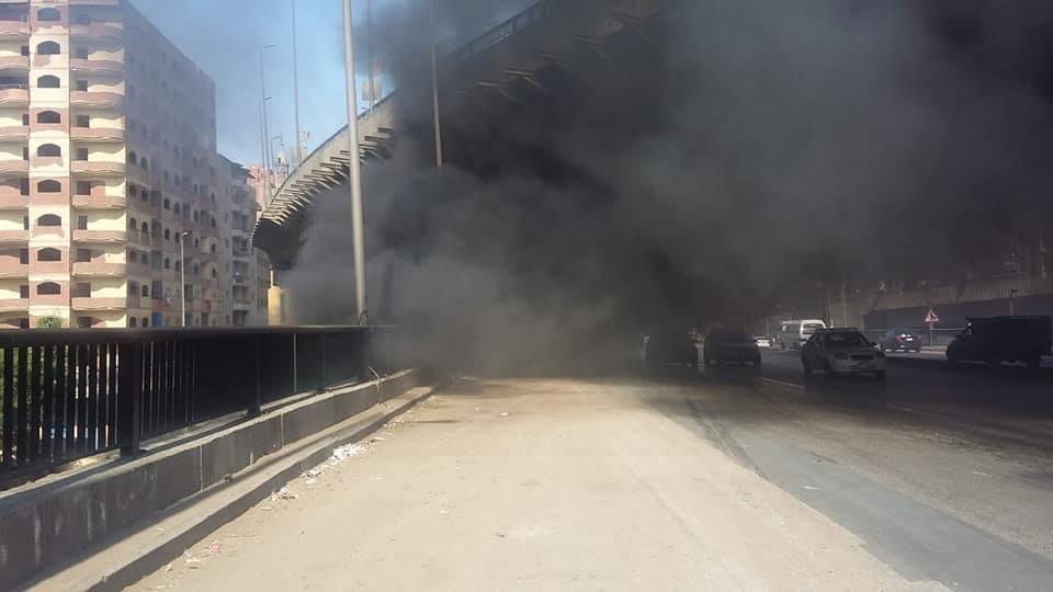 حريق مخزن إشغالات الهرم