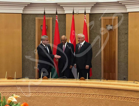 عبدالعال رئيس مجلس النواب مع ميخائيل مياسنيكوفيتش (3)