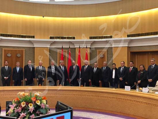 عبدالعال رئيس مجلس النواب مع ميخائيل مياسنيكوفيتش (7)