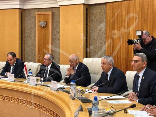 عبدالعال رئيس مجلس النواب مع ميخائيل مياسنيكوفيتش (2)