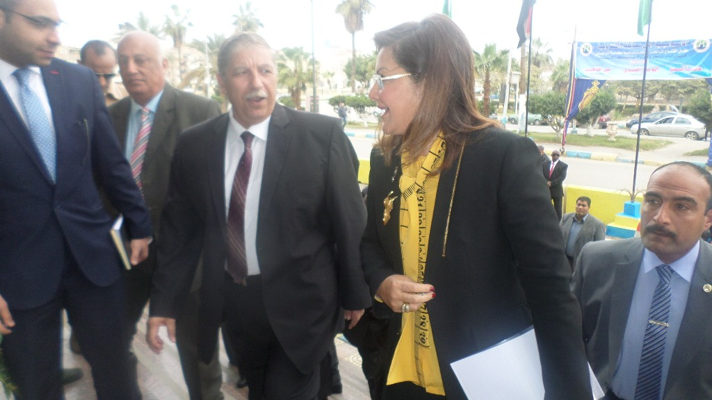 وصول وزير التخطيط للاسماعيلية (2)