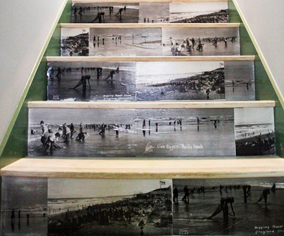 صور تذكارية على السلالم