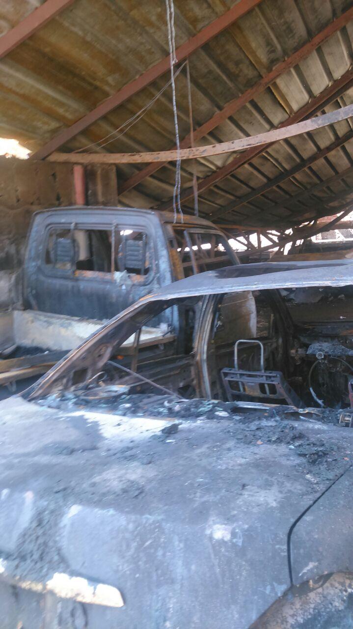 5- اثار الحريق على السيارات