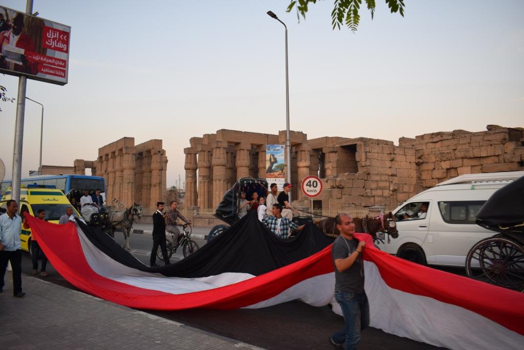 دعم الرئيس السيسي بمسيرة في الاقصر (2)
