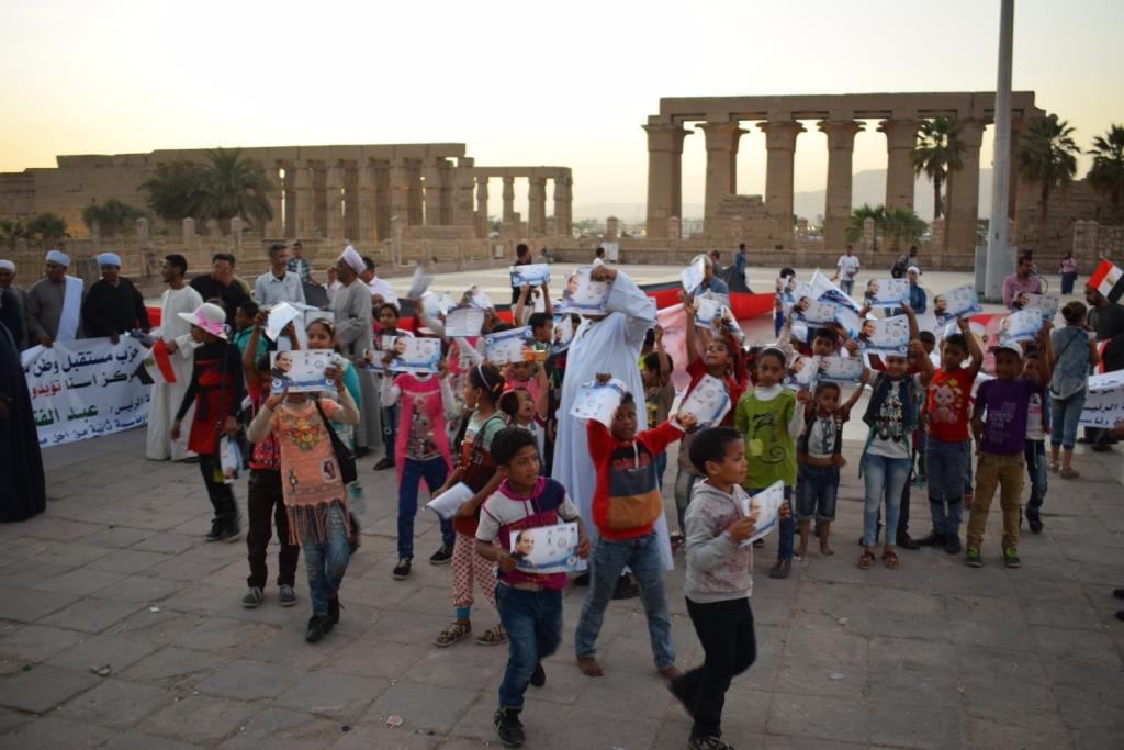 دعم الرئيس السيسي بمسيرة في الاقصر (4)
