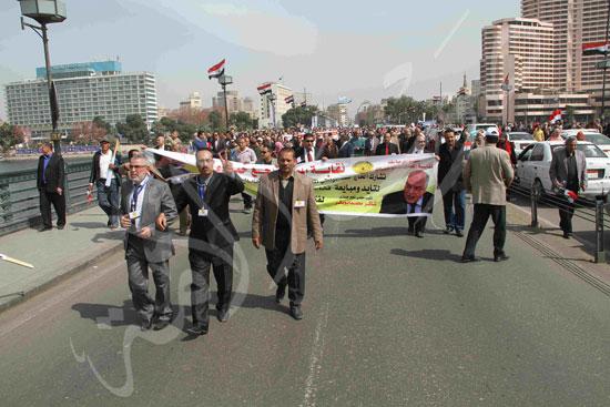 مسيرة المعلمين لتأييد السيسي (5)