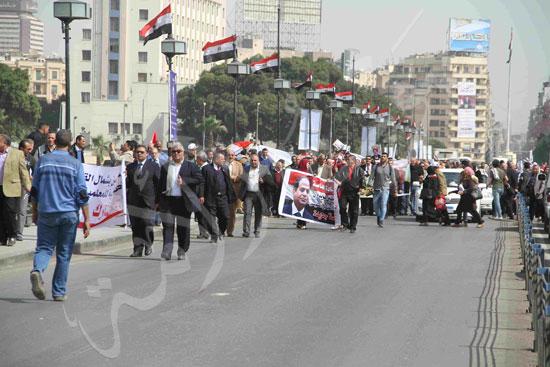 مسيرة المعلمين لتأييد السيسي (2)