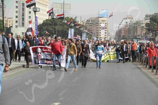 مسيرة المعلمين لتأييد السيسي (3)