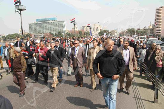 مسيرة المعلمين لتأييد السيسي (8)