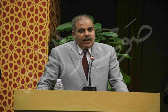 الدكتورمحمد المحرصاوى رئيس جامعة الأزهر خلال الجلسه الافتتاحيه (39)