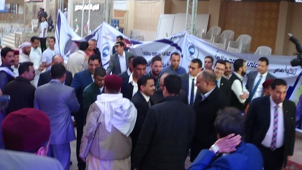 مؤتمر دعم الرئيس السيسي بمطروح بحضور رئيس حزب مستقبل وطن (1)