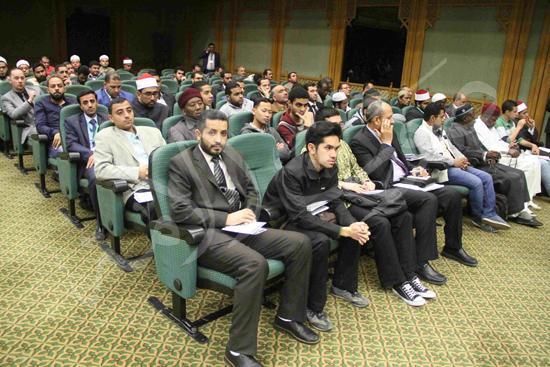 الدكتورمحمد المحرصاوى رئيس جامعة الأزهر خلال الجلسه الافتتاحيه (26)