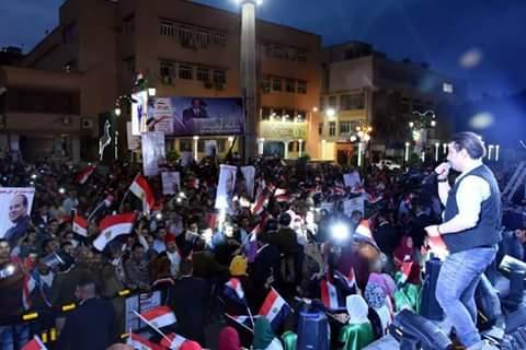 احتفالات بميادين وشوارع الشرقية إبتهاجًا بفوز السيسى (4)