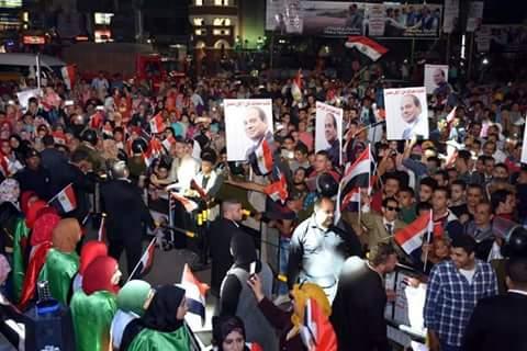 احتفالات بميادين وشوارع الشرقية إبتهاجًا بفوز السيسى (5)
