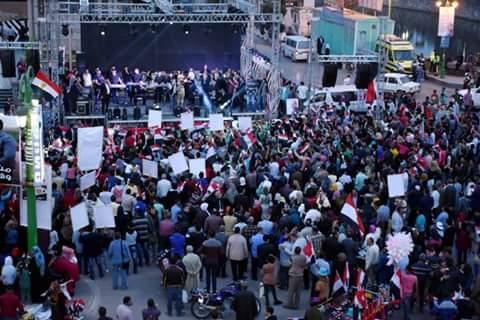 احتفالات بميادين وشوارع الشرقية إبتهاجًا بفوز السيسى (1)