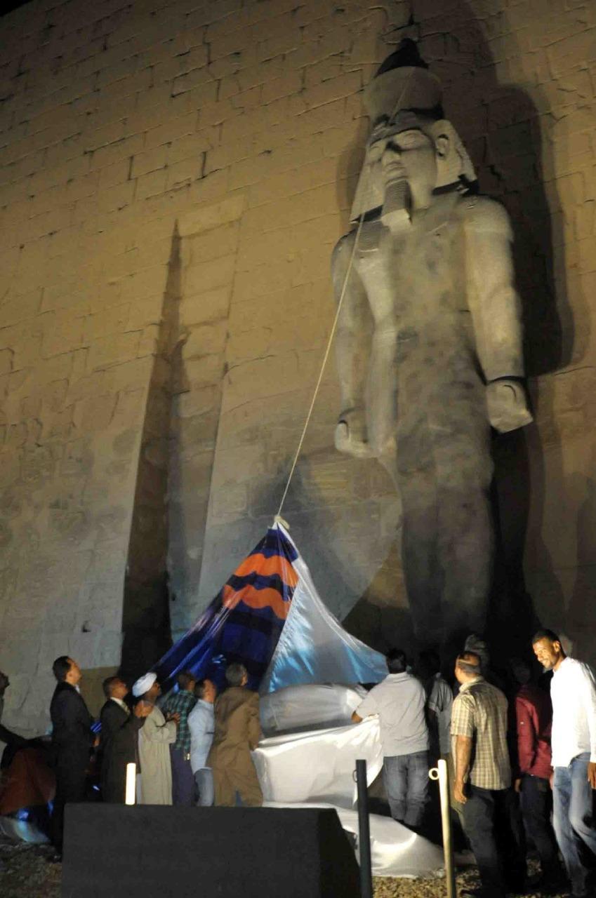 تمثال جديد للملك رمسيس يعود لواجهة معبد الأقصر (11)