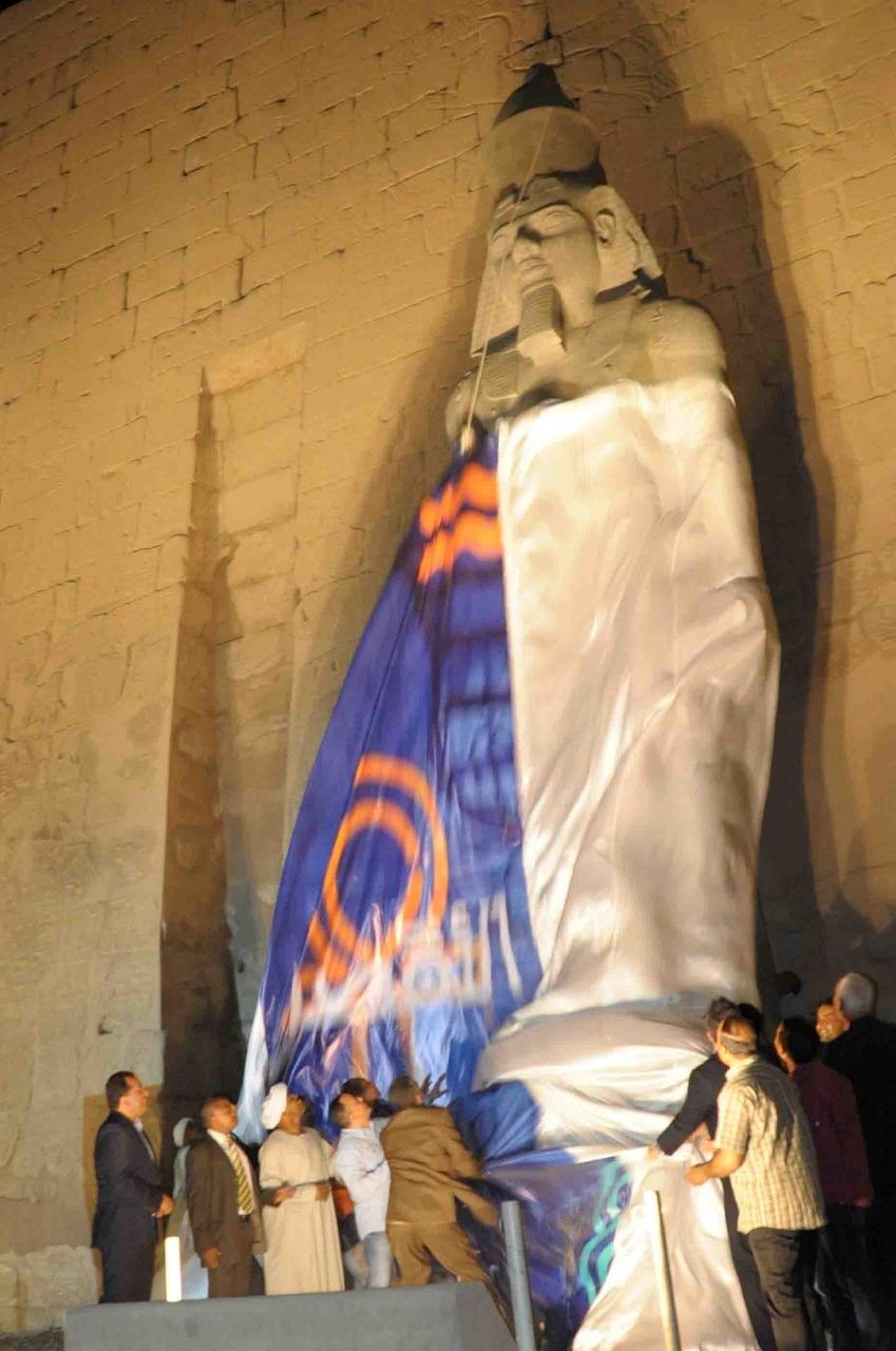 تمثال جديد للملك رمسيس يعود لواجهة معبد الأقصر (12)