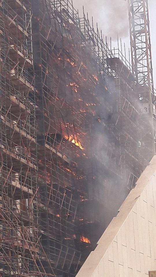 109295-حريق-سقالات-المتحف-الكبير