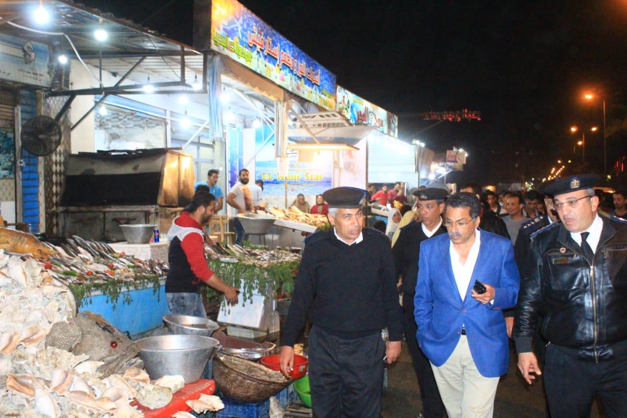 جولة مدير امن الاسماعيلية على طريق البلاجات (3)