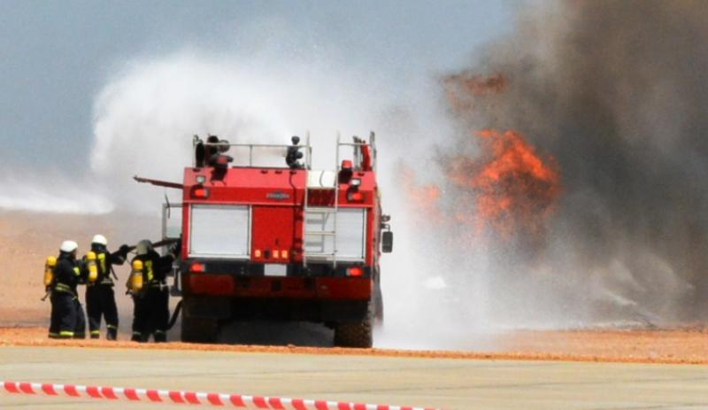 تجربة طوارئ واسعة النطاق بالمطار (23)