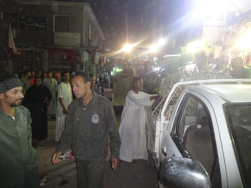 تنفيذ 173 قرار غلق إداري وإزالة إشغالات وتعديات بشوارع مدينة الأقصر (1)