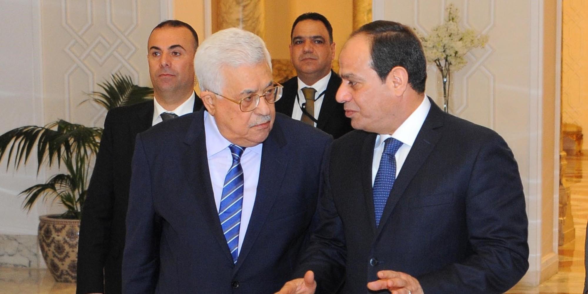 الرئيس عبد الفتاح السيسي والرئيس الفلسطيني محمود عباس