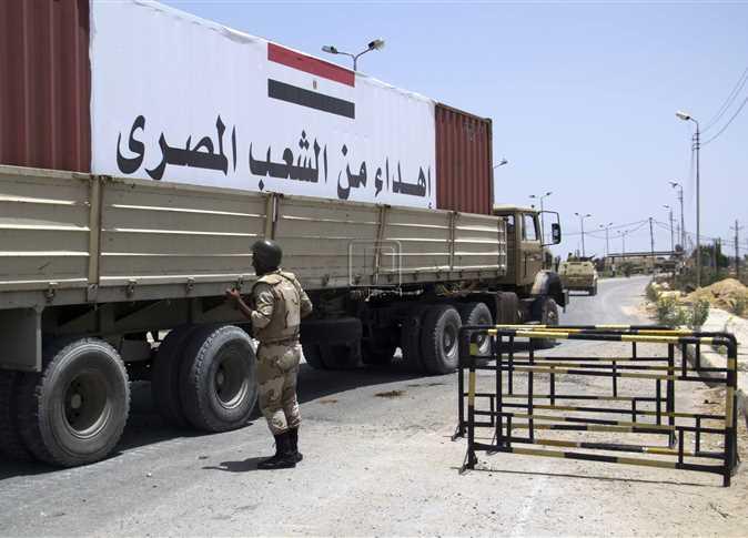 مساعدات مصر إلى غزه