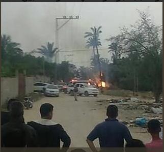 انفجار في غزة  1