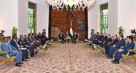 السيسي ورئيس وزراء إثيوبيا 4