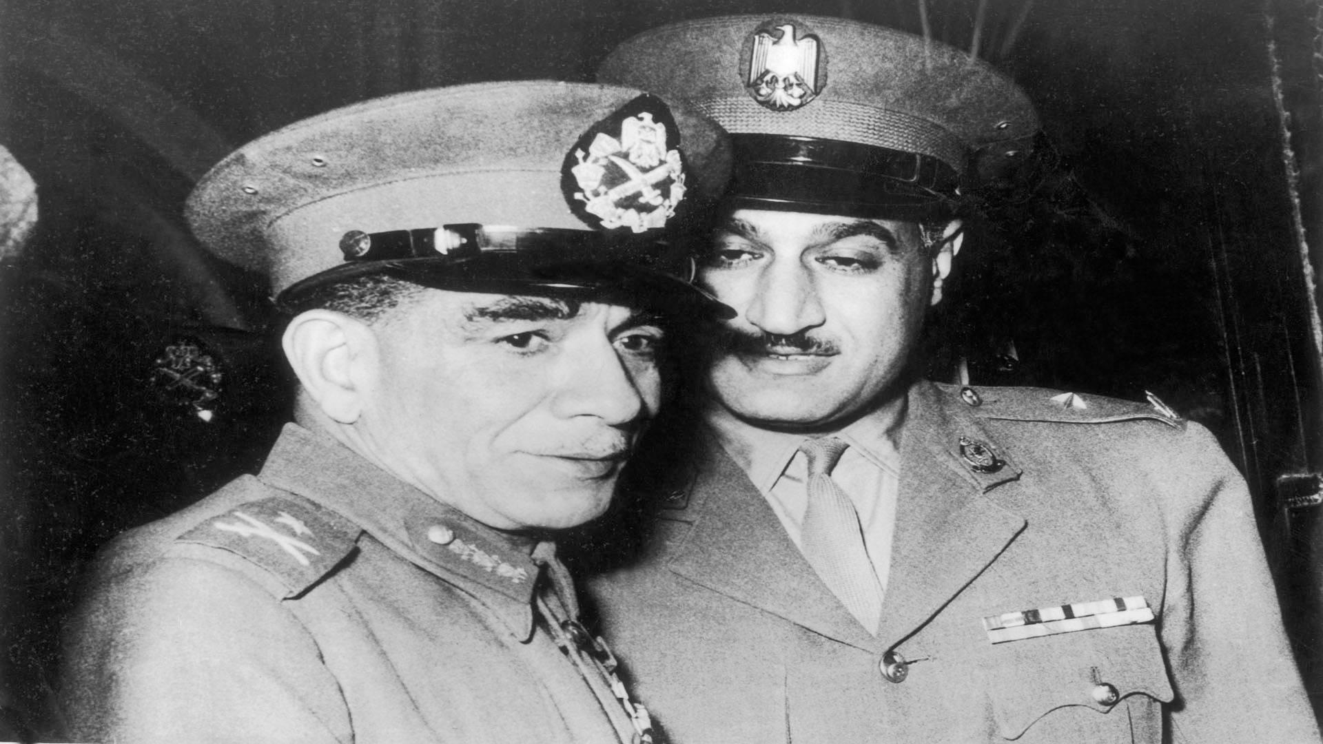 جمال عبد الناصر ومحمد نجيب