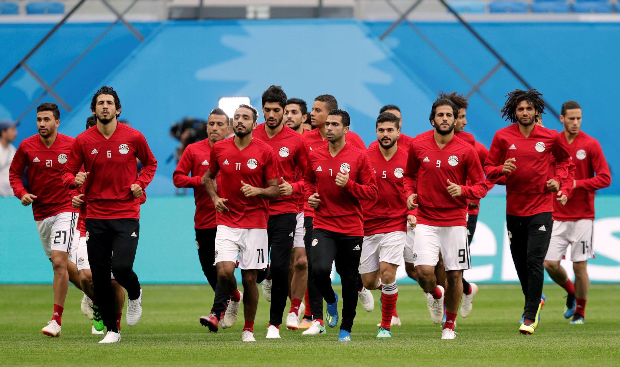 تمرين المنتخب قبل مباراة روسيا