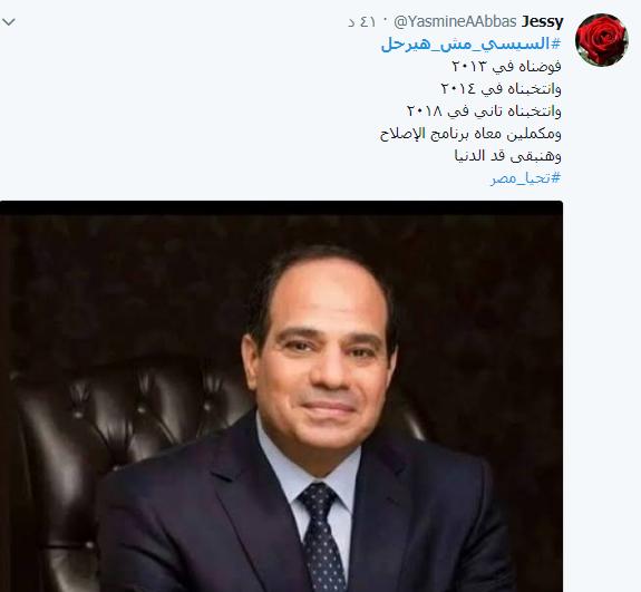 هاشتاج السيسي مش هيرحل