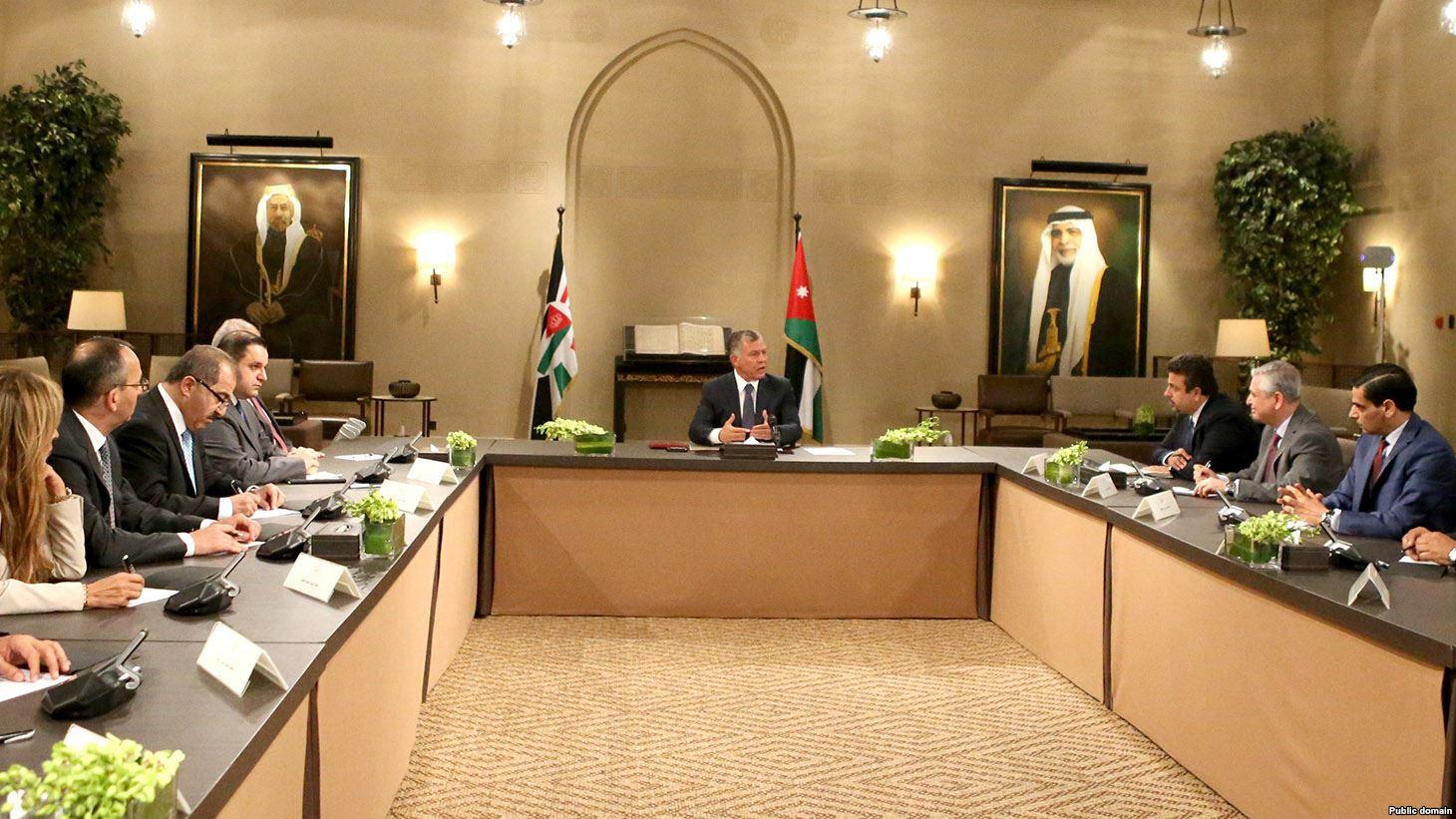 اجتماع ملك الأردن برؤساء تحرير الصحف