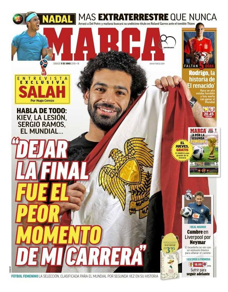 حوار صلاح مع صحيفة ماركا الإسبانية