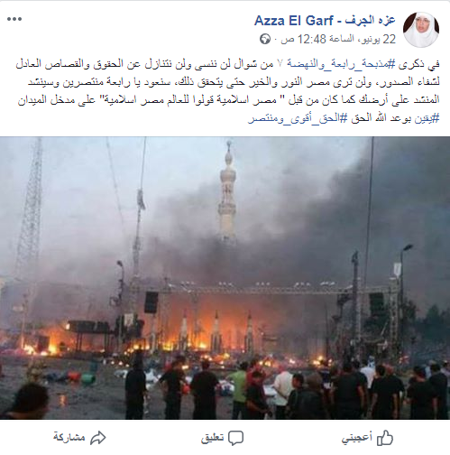 تحريض عزة الجرف ضد مصر