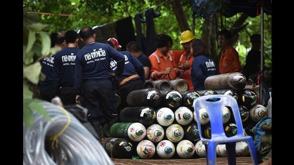 أثناء الترتيب لمحاولة إنقاذ الفتيان في تايلاند
